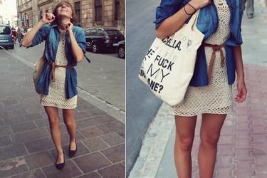 Moda en la calle: una de crochet marchando, por favor