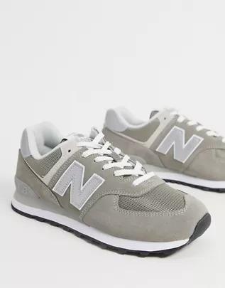 Zapatillas de ante en gris oscuro 574 de New Balance