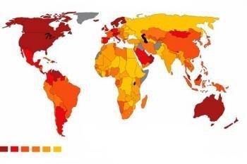El mapa del mundo de la felicidad
