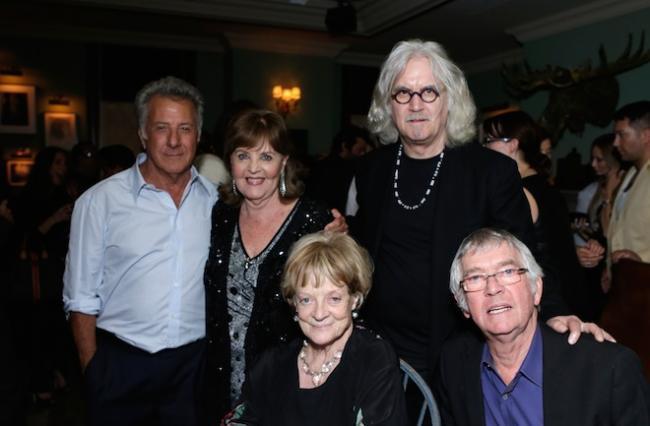 Dustin Hoffman con actores de 'Quartet'
