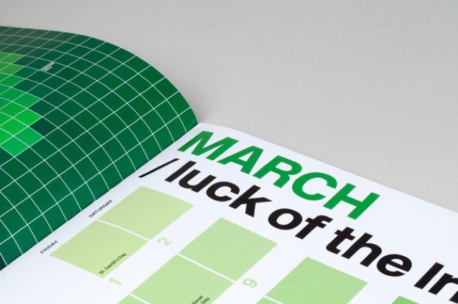 calendario pantone verde