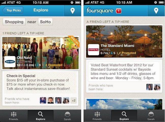 foursquare ofertas