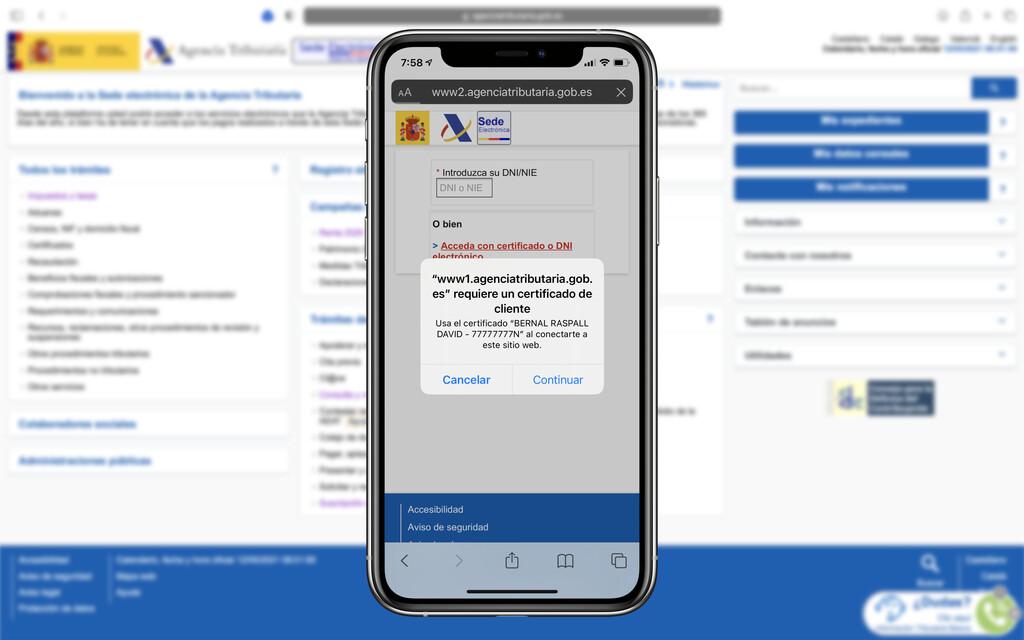 Así podemos instalar y utilizar el certificado digital de la agencia tributaria en nuestro iPhone, iPad o Mac mediante Safari