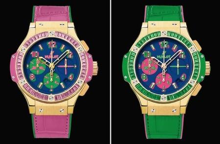 hublot big bang pop art rosa y verde