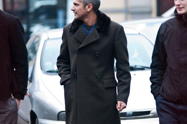 street style abrigo cruzado