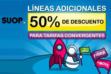 SUOP hace más potentes sus combinados de fibra y móvil, con más líneas adicionales al 50% para siempre