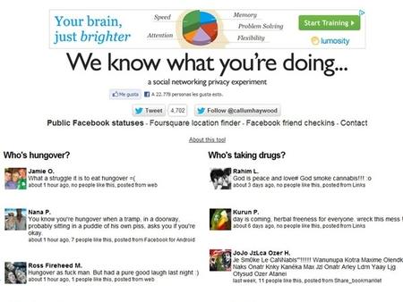 We know what you're doing, el sitio que pretende crear conciencia en redes sociales
