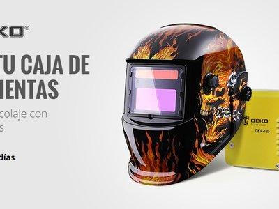 Oferta de herramientas Deko en Aliexpress con envío gratuito: taladros, máscaras, níveles láser...