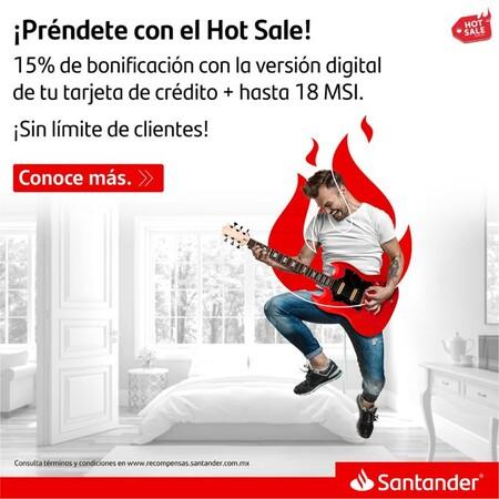 Promociones de Santander en el Hot Sale 2021