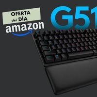 Hasta la medianoche, el teclado gaming Logitech G513 Lightsync te sale más abarto en Amazon. Lo tienes por 107,99 euros