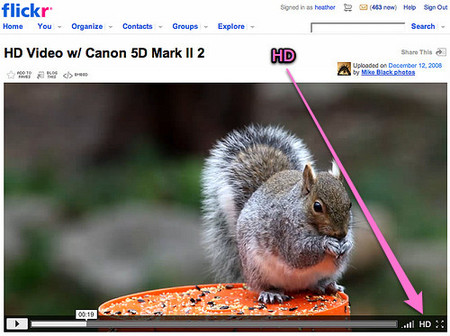 flickr: vídeo para todos, HD para pros y flickr clock
