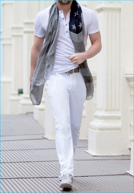 John Varvatos Mens Style Edit White Denim Jeans 004 800x1150