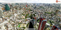 Panorámica gigapíxel 360º de Tokio desde Roppongi Hills