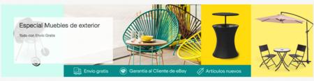 Especial terrazas en eBay: muebles de jardín y barbacoas con envío gratis