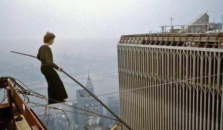 'Man on wire', caminando en el aire entre las Torres Gemelas