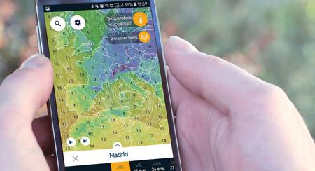 Ventusky, una app para ver el tiempo sobre el mapa con vistosas animaciones