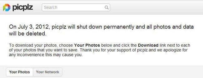 Picplz cerrará definitivamente el 3 de julio de 2012