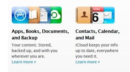 Calendario, email, agenda, copia de seguridad - iCloud