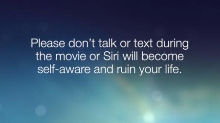Cuando Siri te pide que no hables en el cine, habla muy en serio