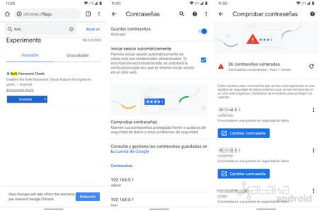 Comprobar Contrasenas Chrome Android