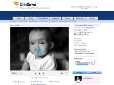 SlideServe, otra web donde subir y compartir presentaciones PowerPoint