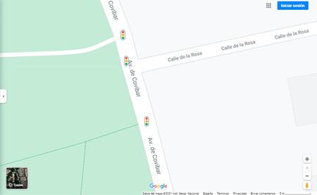 Google Maps ya muestra los semáforos en España