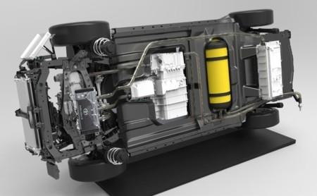 Toyota FCV bastidor y elementos