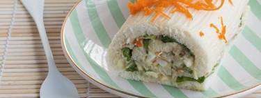 Pastel vegetal de pan de molde, receta clásica con una vuelta de tuerca