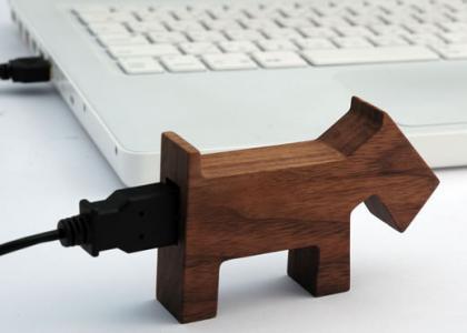 Memorias USB con forma de animal de madera