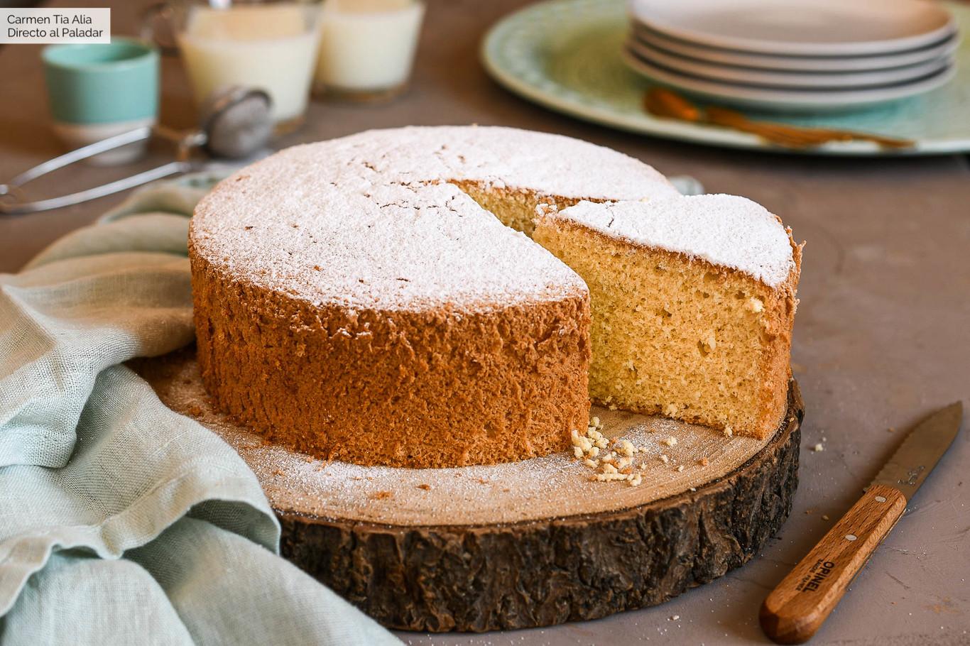 Bizcocho Fácil De Tres Ingredientes Receta De Cocina Fácil Sencilla Y Deliciosa