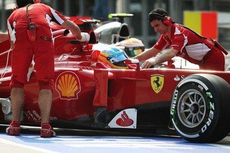 Ferrari podría cambiar su sistema de suspensión delantera
