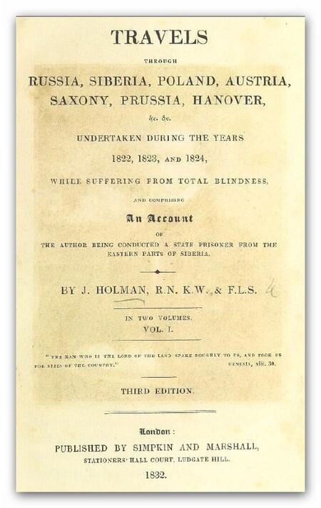 Holman 1832 Travels Vol 1