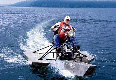 Moto acuática a partir de una Yamaha Virago