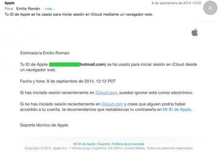 Apple comienza a notificar por correo cuando entras (o entran) a iCloud en la web