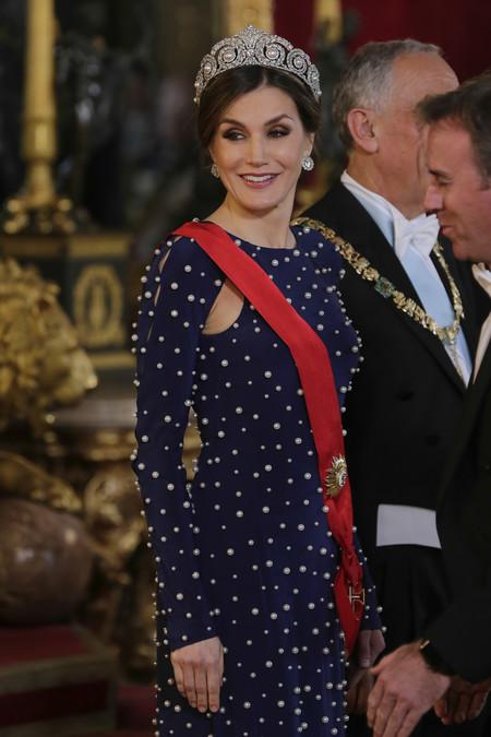 Dona Letizia Cena De Gala Con Portugal 1