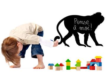 Vinilos pizarra de especies amenazadas para la habitación infantil