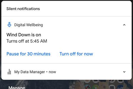 El Modo descanso de Digital Wellbeing añade la posibilidad de posponerlo por 30 minutos