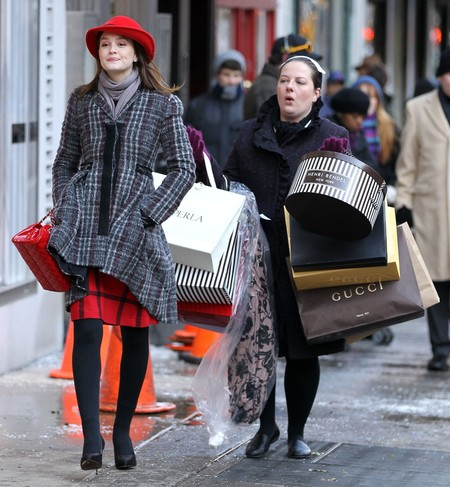 Leighton Meester Zuzanna Szadkowski Film Shopping Scene Gossip Girl New York
