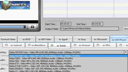 WinX HD Video Converter Deluxe, ajustes predefinidos