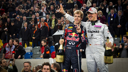 Michael Schumacher y Sebastian Vettel una vez más en la ROC