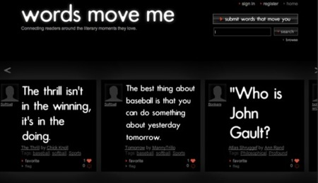 Words Move Me, un Twitter para pasajes de libros