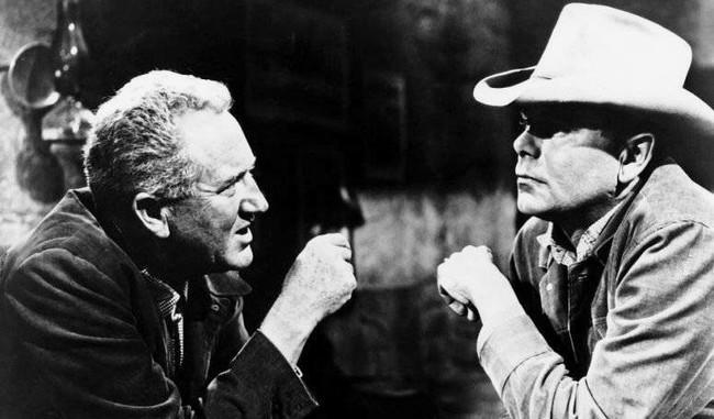 Delmer Daves con Glenn Ford