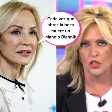 La llamada bomba de Carmen Lomana a 'Sálvame' para defender a Miguel Bosé... Que acaba en guerra personal contra Lydia Lozano