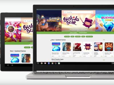 Google Play está empezando a traer aplicaciones de Android a los Chromebooks