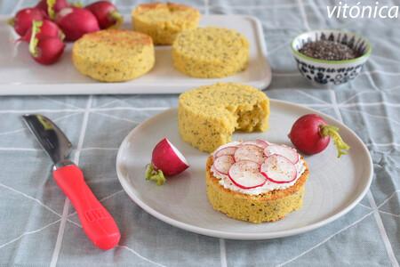 Pan proteico exprés en microondas: receta fitness sin gluten saludable y nutritiva