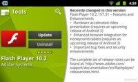 Adobe Flash 10.2 para Android se actualiza con mejoras de seguridad y mayor integración en Honeycomb