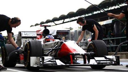 GP de Hungría F1 2011: los dos HRT superan a uno de los dos Virgin