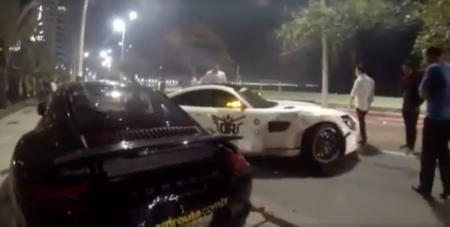 Dolorpasión™: Cuando un Mercedes AMG GT golpea a un Ferrari 458 y Porsche 911 Carrera S