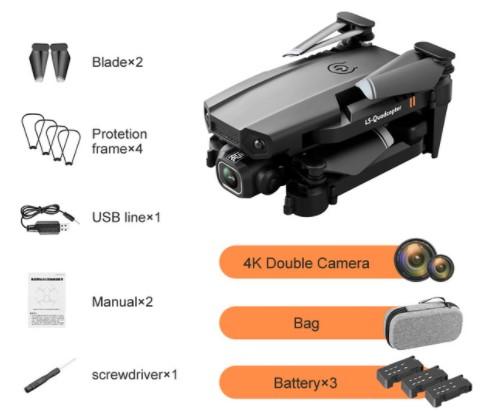 Dron 4k con doble cámara HD XT6, WIFI, FPV, presión de aire, altura fija, cuatro ejes, helicóptero RC con cámara