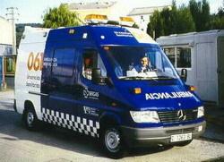 Multado un conductor de ambulancia por superar la velocidad en un transporte urgente